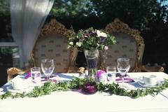 Sommarbröllop i glashuset - honnörsbordet
