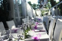 Sommarbröllop i glashuset - bar himmel med det avtagbara taket